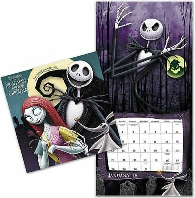 2018 Nightmare Before Christmas Wall Calendar