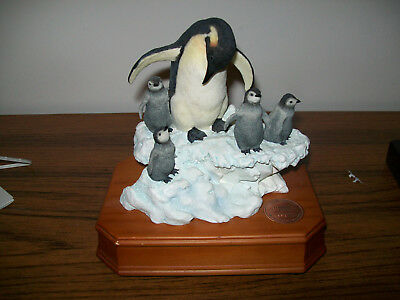 San Francisco Music Box Company Penguins National Geographic I Believe I can Fly