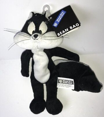 "1998 PENELOPE Skunk 9"" Bean Bag Plush - Warner Bros Studio Store - NEW NWT"