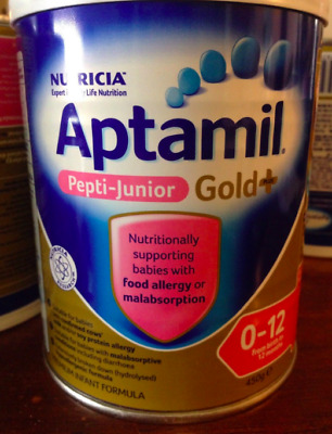 Aptamil Pepti Junior Gold Plus + 0-12months Baby Formula  X6 Unopened Cans