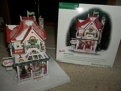 Department 56 Barbie Boutique North Pole Series Lighted House Display #56.56739