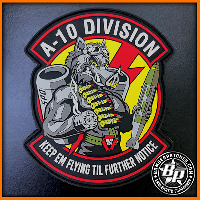 A-10 Warthog 2018 Bomber Patches Pvc Patch Hill Afb, System Programs Office Usaf