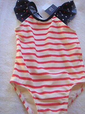 Gap Baby Girls Swimsuit Bnwt Size 0 Upf 40+