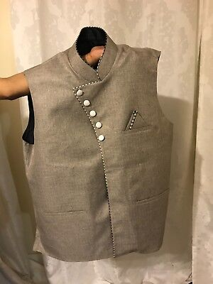 Islamic clothes, mens vest coat. large sizes! 2 colors.