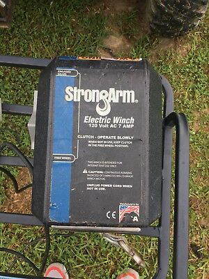 StrongArm 120 Volt Electric Winch,2700 Lb,7 Amp,Strong Arm