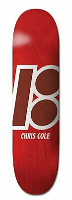 Plan B 8.375' Chris Cole Stained New Red Skateboard Deck Aus Seller Free Grip Sk