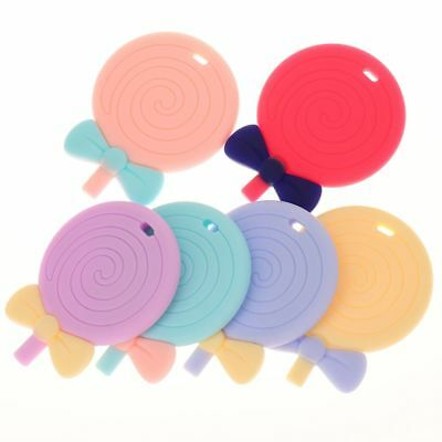Silicone Pendant Bite Lollipop Charm Necklace Nursing Toys Chew Baby Teething