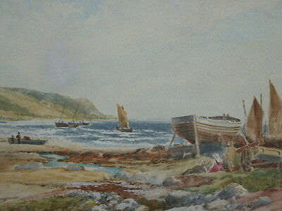 Watercolour Skipness Scotland 1890 Free Shipping England