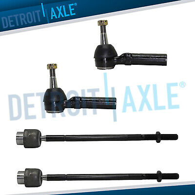 ALL (4) Steering Inner & Outer Tie Rod End Links Chevy Impala Grand Prix Regal