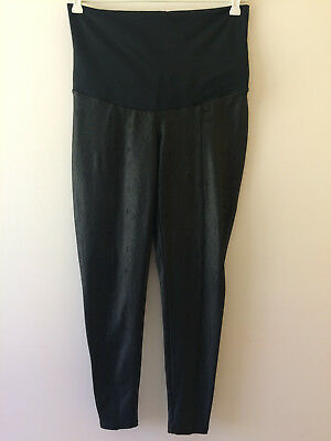 Dannii Minogue Maternity Black Pants Size 10 Tights Snakeskin Print Reptile Ladi