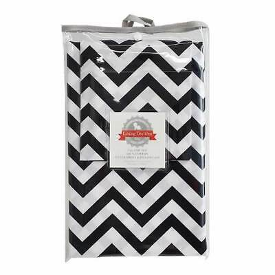 Living Textiles 2 Piece Cot Sheet Set Fitted Sheet & Pillowcase - Chevron