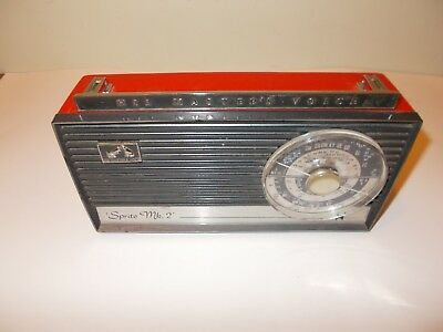 His masters voice sprite mk 2 red radio
