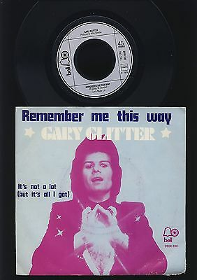 Gary Glitter - Remember Me This Way - It's Not a Lot (But It's All..) - HOLLAND