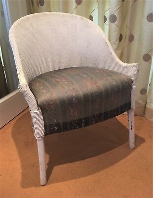Vintage Art Deco period Lloyd Loom type armchair for recovering (ref 18.7.050)