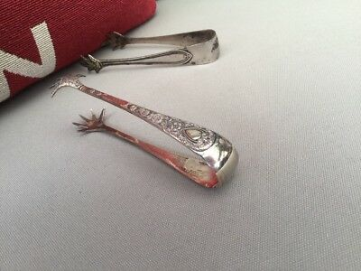Little Antique Silver Plated Sugar Tongs