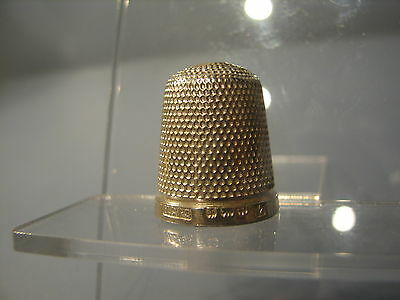 """Unusual  Solid silver thimble """"The Spa"""" 1928"""