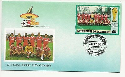 Grenadines of St Vincent  FDC - 2 x World Cup Mexico 1986  - (3547) (X)