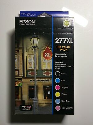 Epson 277XL Genuine High Yield 6 Inkjet Value Pack [1BK,1C,1M,1Y,1LC,1LM]
