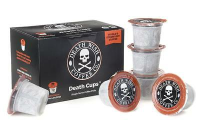 (1) 10 Pack Death Wish Death Cup Coffee The World's Strongest Coffee New