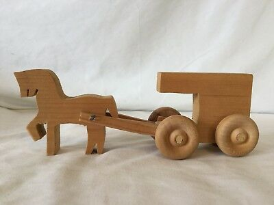 Wooden Horse and Buggy figure D10