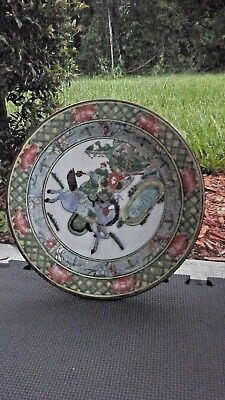"""Hand-painted Chinese plate 10.5""""diameter floral design"""