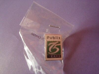 Publix 75th Anniversary Pin, new in package