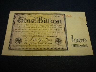 Ros.131d  EINE BILLION Mark 1923