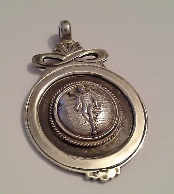 Sterling Silver Watch Fob Medal for Athletics Walking Relay Cross Country