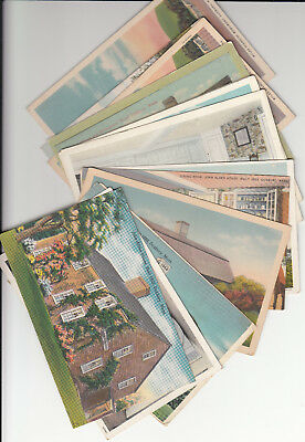 Lot of 14 Vintage Era Postcards Duxbury MASS Massachusetts Plymouth County MA