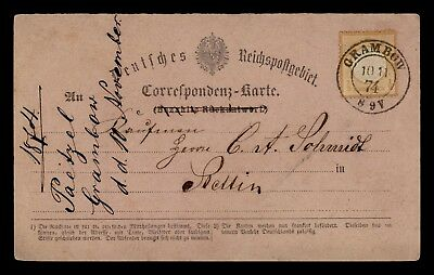 Dr Who 1874 Germany Postal Card C34482