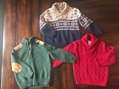 Janie And Jack Baby Boy Lot Of 3 Sweaters, Size 18-24 Months, Adorable!!