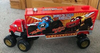 Disney Cars - Mack Carry Case Transporter - Large Red Boxed Lorry Truck