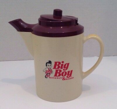 Big Boy Restaurants And Bakery Insulated Individual  Tea/coffee Pot, 1970's