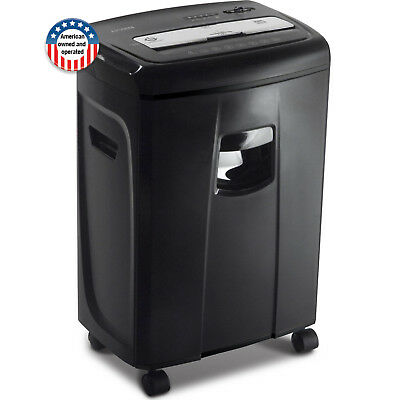 Security 12-Sheet Crosscut Paper Document Credit Card Shredder w Pullout Basket