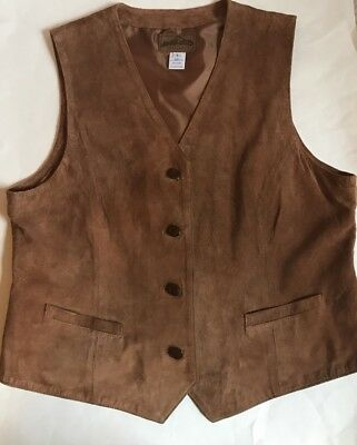 Pendleton Men's Large Genuine Pig Skin Leather Tan Suede Vest