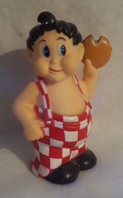 Vintage Bob's Big Boy Restaurant Vinyl Advertisement Coin Piggy Bank Figure