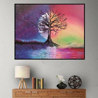 DIY 5D moon tree full Diamond Painting Embroidery Cross Stitch home Decor  AB