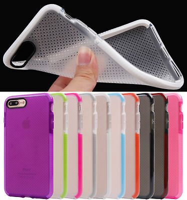 For iPhone 8 Plus Clear Shockproof Classic EVO Check Impact Mesh TPU Case