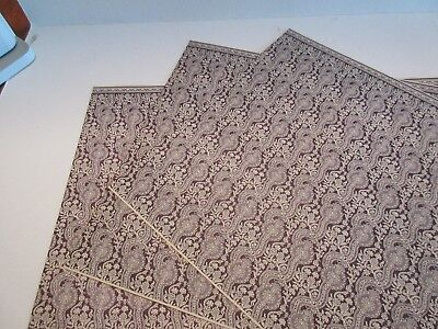Miniature Dollhouse Wallpaper J. Hermes 1:12 Abigail dark purple on ivory