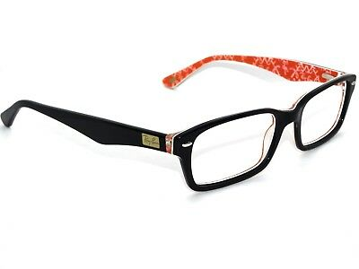 9a582a39dc RAY BAN EYEGLASSES RB 5206 2479 Black Red Horn Rim Frame 54  18 145 ...