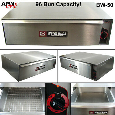 APW Wyott BW-50 Commercial Heated Bun Warmer Drawer Hot Dog Hamburger Food 120v