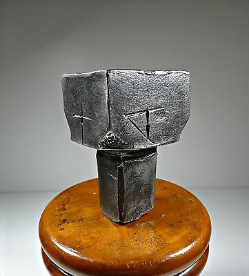 Antique Small Square Head Iron Anvil Blacksmith Old Tool 733 Grams Marked
