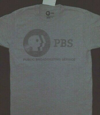 fb7884efd1e PBS Public Broadcasting Service Weathered Logo T Shirt  New with tags   Licensed