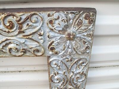 Antique Cast Iron Fireplace Surround Arch Ornate Insert 1880's Victorian Floral