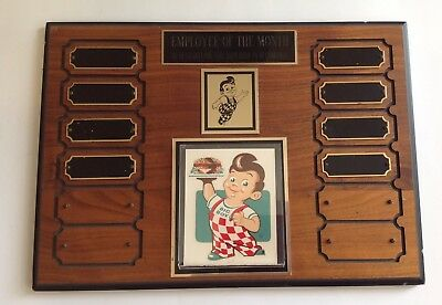 1960's Big Boy Rest. Employee Of  Month Award- Wood
