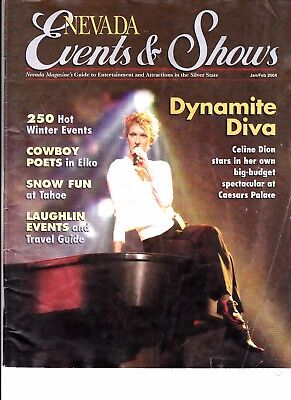 Celine Dion  Rare Chatelaine Magazine Jan  1997 + Free Nevada  Events And Shows