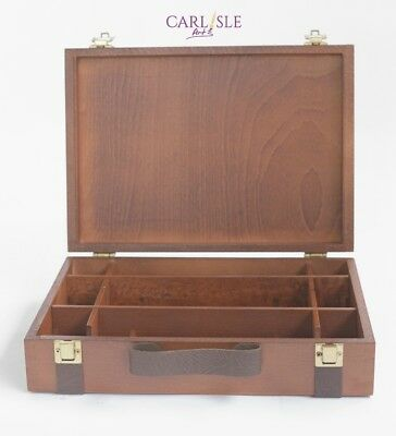 Cappelletto Colours Box Walnut/Leather 23 x 33 cm