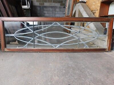 Antique Victorian Leaded Beveled Glass Window - C. 1895 Architectural Salvage