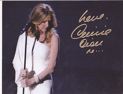 "Celine Dion ""rare"" Signed 8X10 Signed Autograph Photo + Free Lasmaine Magaine"