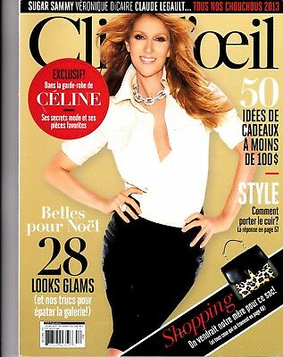 Celine Dion  Rare Clioeil Magazine With Free Vegas Flyer